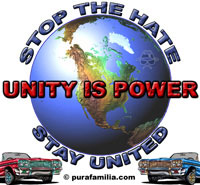 Stop the Hate, Stay United, UNITY IS POWER!
